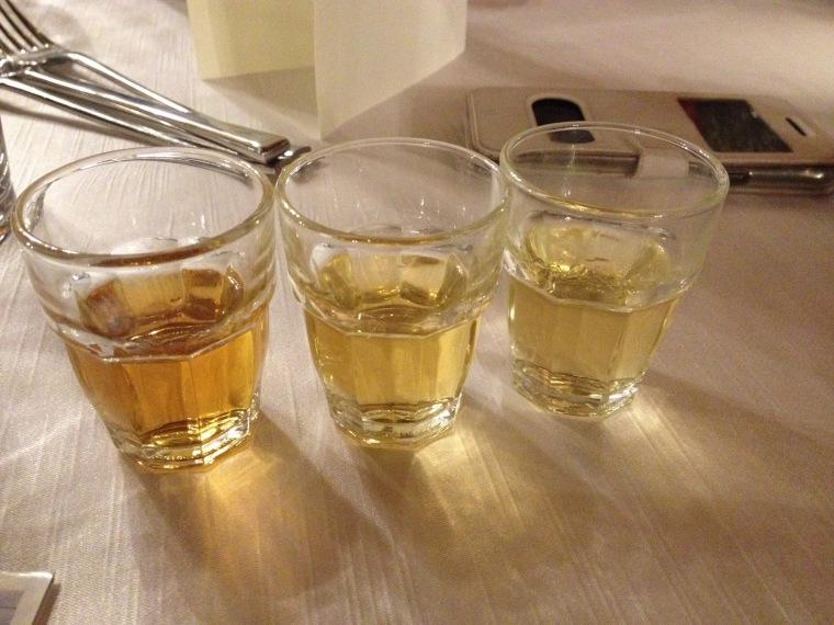 Tre diverse tipologie di whisky